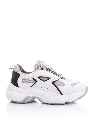 Tonny Black Beyaz Siyah Kadın Spor Ayakkabı Tb288 Beyaz